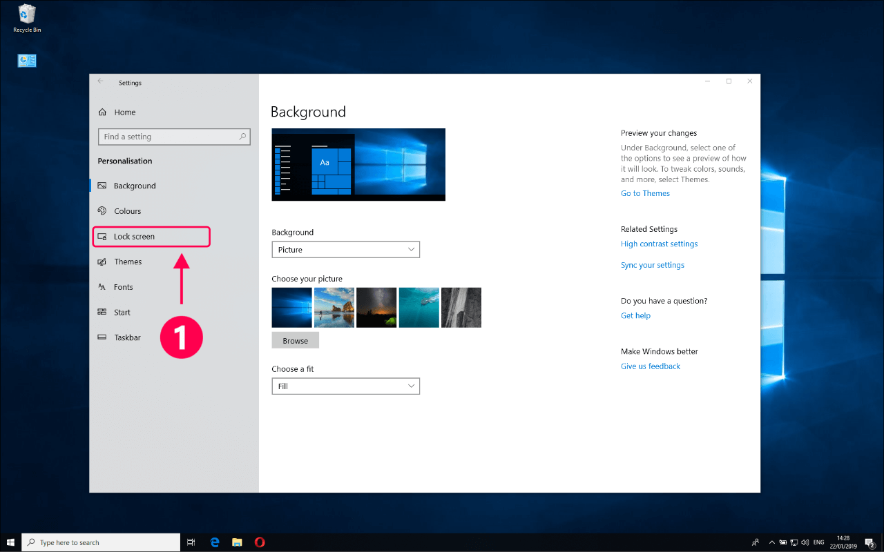 How to customize Windows 10 lock screen background – Ashampoo